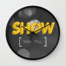 Show Don't Tell Wall Clock