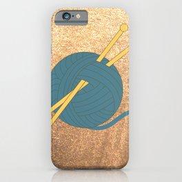 Knitting Illustration iPhone Case