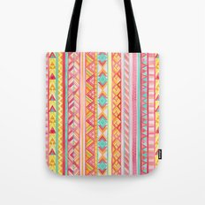 Summer Sun // Geometric Watercolor Tote Bag