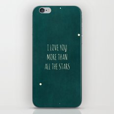 More Than All the Stars - Teal iPhone & iPod Skin