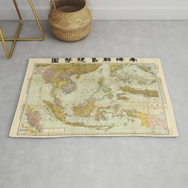 Map of Southeast Asia (1936) Rug