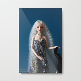 Resin Enchanted Doll 'Surrea' Metal Print
