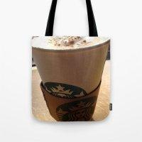 starbucks Tote Bags featuring Starbucks by Josj