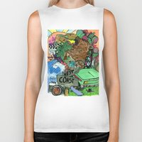 west coast Biker Tanks featuring west coast. by Late Bloomer