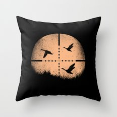 Duck Hunting Throw Pillow