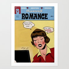 Minecraft Romance Issue #14 Art Print