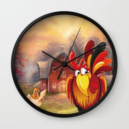 The perfect rooster Gift? You can stop your search Wall Clock