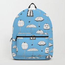 Happy Umbrellas Pattern - blue Backpack