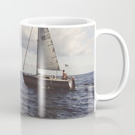 BOAT - OCEAN - SAILING - SEA - WATER - CLOUDS - PHOTOGRAPHY Coffee Mug