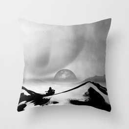 Black Space Song Throw Pillow