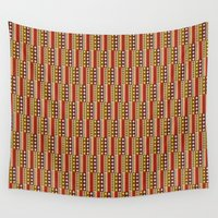 africa Wall Tapestries featuring Africa by Okopipi Design