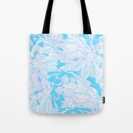 Fresh Blue Flowers Pattern Tote Bag