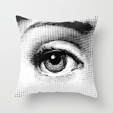 Fornasetti Left Eye Throw Pillow