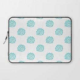 Aqua Spiral Abstract Pattern Laptop Sleeve