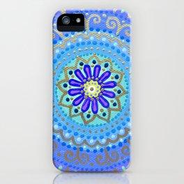 Peaceful Golden Mandala iPhone Case