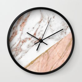 Marble rose gold blended Wall Clock