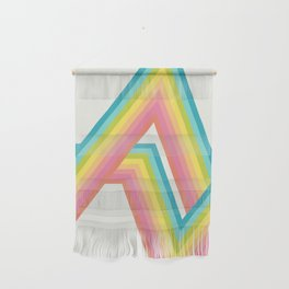 Retro Rainbow Rays Wall Hanging