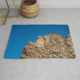 Rock Canyon Utah Outcropping Rock Formation Mountain Photography Rug