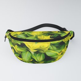Painted Foliage Fanny Pack