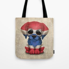 Cute Puppy Dog with flag of Thailand Tote Bag