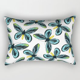Queen Alexandra' s birdwing butterfly pattern design Rectangular Pillow