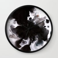abyss Wall Clocks featuring Abyss by Naomi Shingler