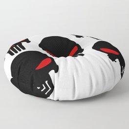 Black red Punisher Skull Pattern Floor Pillow