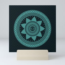 Eye of Protection Mandala Mini Art Print