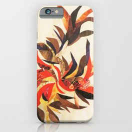 Abstract Floral Collage iPhone Case