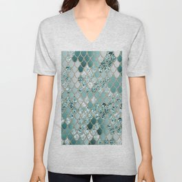 Mermaid Glitter Scales #3 #shiny #decor #art #society6 Unisex V-Neck