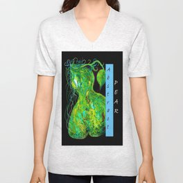 Abstract Pear Unisex V-Neck