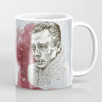 camus Mugs featuring Camus - The Stranger by Nina Palumbo Illustration