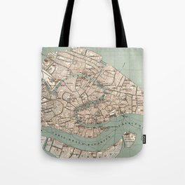 Map of Venice - 1886 Tote Bag