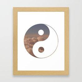 Yin Yang Clouds Framed Art Print