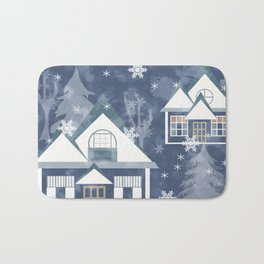 Winter , Christmas , 2018 Bath Mat