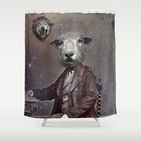 law Shower Curtains featuring jungle law by ppatphoto