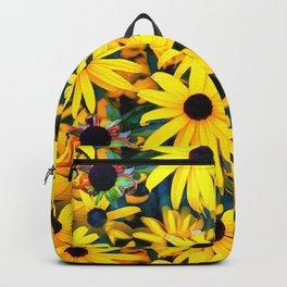 Golden Black Eyed Susan Rudbeckias Melange Backpack