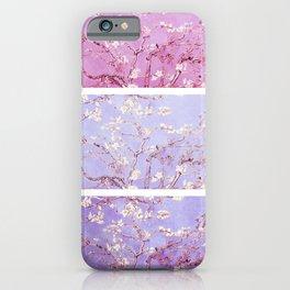 Vincent Van Gogh : Almond Blossoms Lavender Panel Art iPhone Case