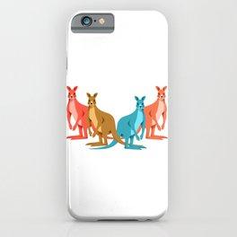 Fours Kangaroos iPhone Case