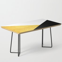 Gold & Black Geometry Coffee Table
