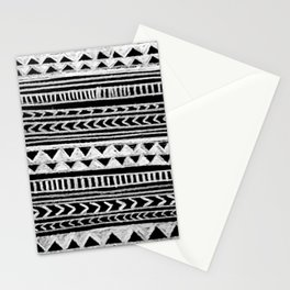 Triangle and Herring Bone Pattern Stationery Cards