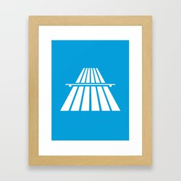 Autobahns | Autobahn | Motorway | Freeway | Highway | Bundesautobahn | Road sign Framed Art Print