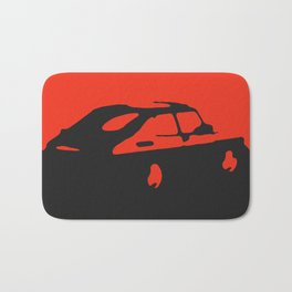 Saab 900 classic, Red on Black Bath Mat