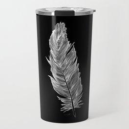 Light white feather Travel Mug