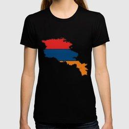 Armenia Map with Armenian Flag T-shirt