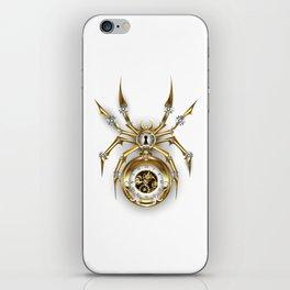Spider with Clock ( Steampunk ) iPhone Skin