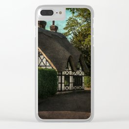 A Berkshire Half Timbered Cottage Clear iPhone Case