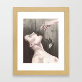 Becoming A Saint Artist print Framed Art Print