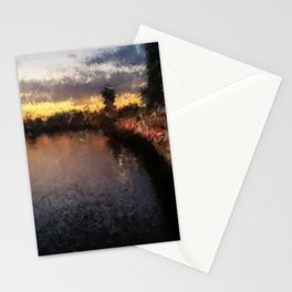 Brisbane River - A Beautiful Digital Painting Print Stationery Cards