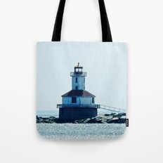 Summerside Harbour Lighthouse PEI Tote Bag